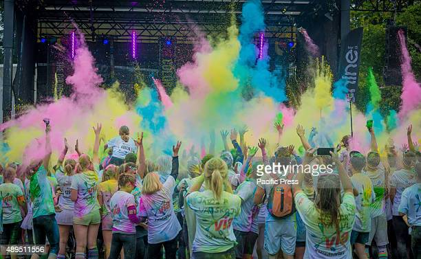 Colors abound at the festival after finishing the Color Run It is the world's largest series of 'fun runs' and for the second year in a row the race...