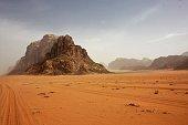 View of the Jordanian desert