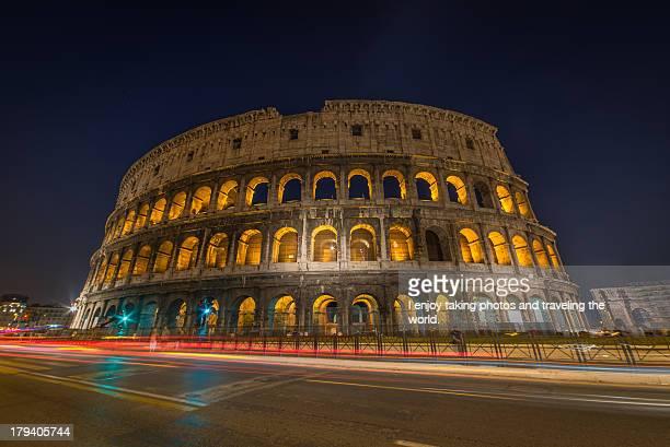 Coloseum at night