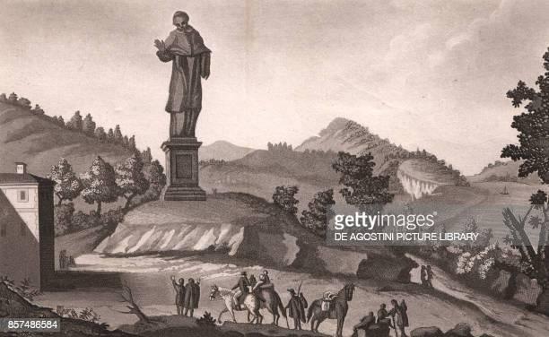 Colossal statue of St Charles Borromeo Arona Piedmont Italy aquatint ca 192x115 cm from Viaggio in Italia per Francesco Gandini ovvero descrizione...