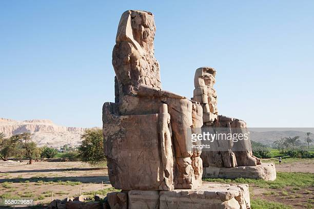 Colossi Of Memnon Western Thebes Qina Egypt