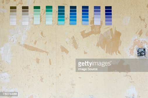 Colour charts on a wall