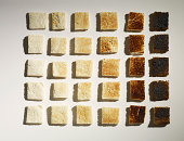 Colour grid chart made of toast