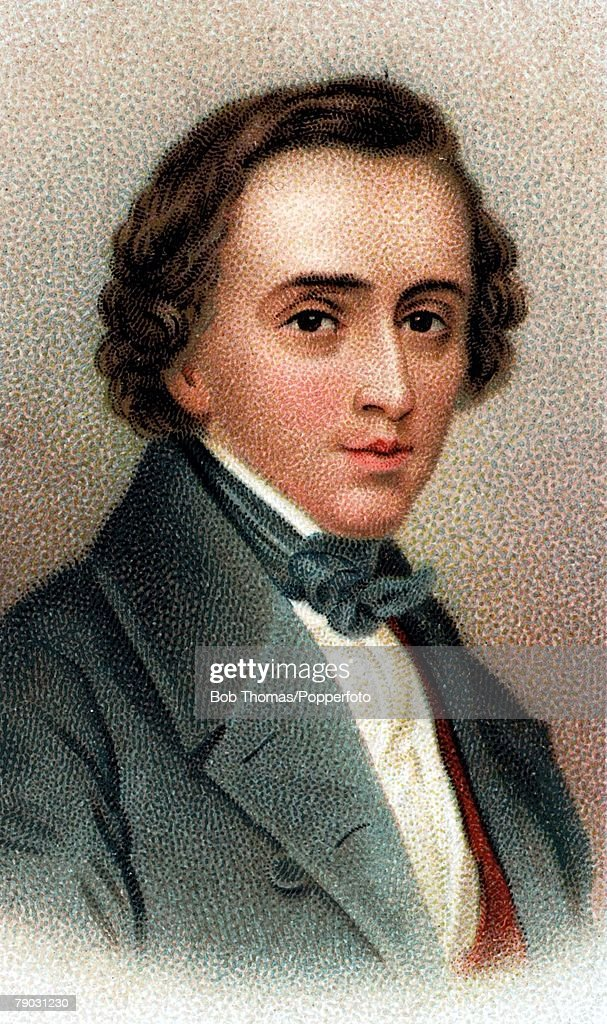Colour illustration, Music/ Composers, <a gi-track='captionPersonalityLinkClicked' href=/galleries/search?phrase=Frederic+Chopin&family=editorial&specificpeople=78813 ng-click='$event.stopPropagation()'>Frederic Chopin</a>, Polish composer,