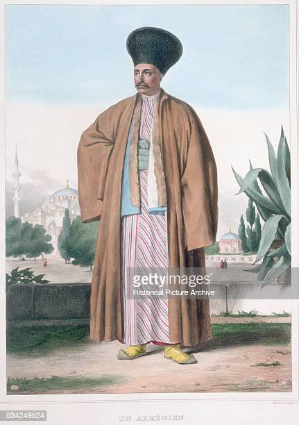 Colour Lithograph Armenian Man by Louis Dupre