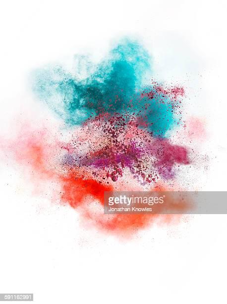 Colour make up powder