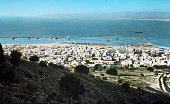 Colour photograph of Haifa a city built on the slopes of Mount Carmel in northern Israel Dated 20th Century
