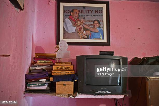 ALWAR RAJASTHAN ALWAR RAJASTHAN INDIA Colour television along with a few awards and belongings of Liberated manual scavenger Usha Chaumar pictured...