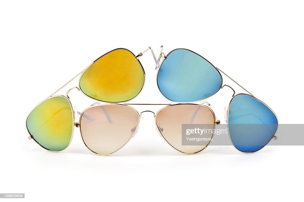 Coloured aviator sunglasses