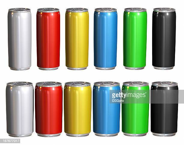 Coloured can