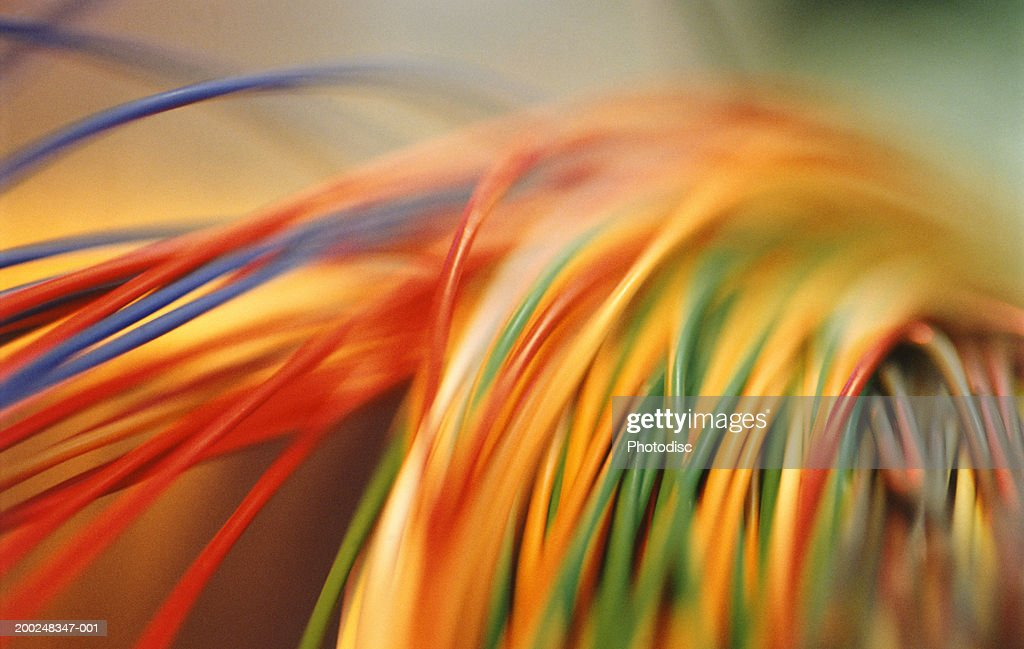 Coloured electrical cables