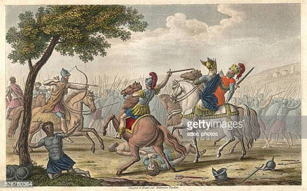 Reign of Merovee Death of Theodoric king of the Visigoth at the Catalauniques fields near of Ch��lonssurMarne battle signing the defeat of Attila...
