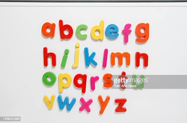 A-Z coloured fridge magnet letters