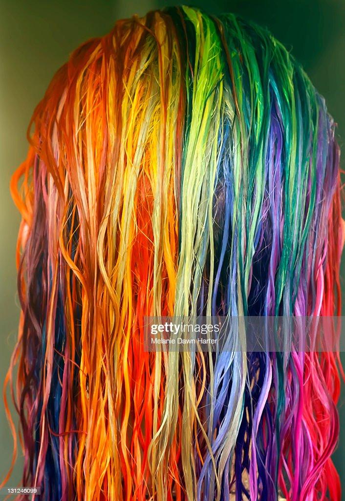 Coloured hair : Stock Photo