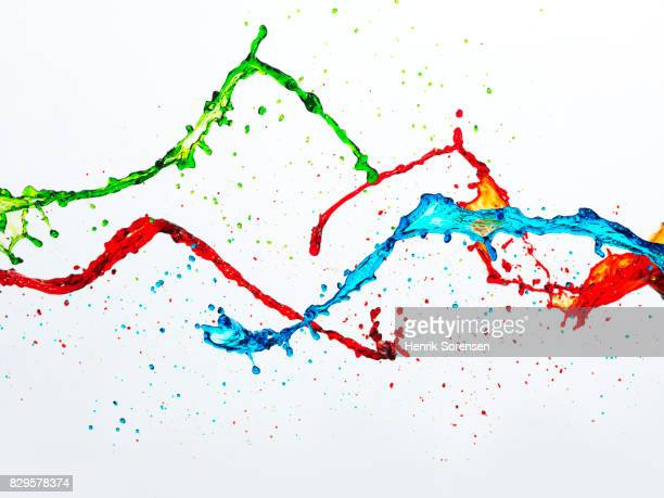 Coloured liquid splash