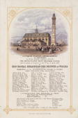 Coloured lithograph and letterpress invitation showing an illustration of the pumping station In the early 19th century London suffered from serious...