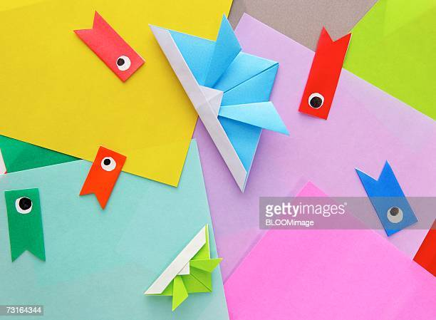 Coloured Origami of Children's day