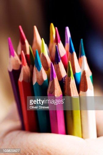 Coloured pencils. : Stock Photo