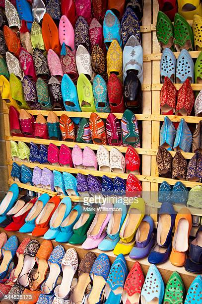 Coloured shoes in Morocco.