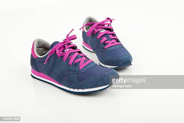 Coloured sports shoes