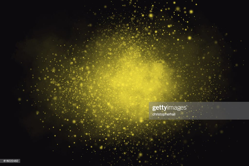 Colourful abstract powder explosion on a black background : Stock Photo