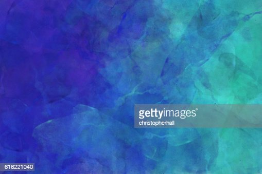 Colourful abstract watercolour design on a black background : Stock Photo