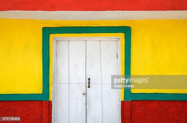 Colourful architectural detail in Yucatan, Mexico