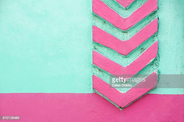 Colourful architectural detail in Yucatan, Mexico