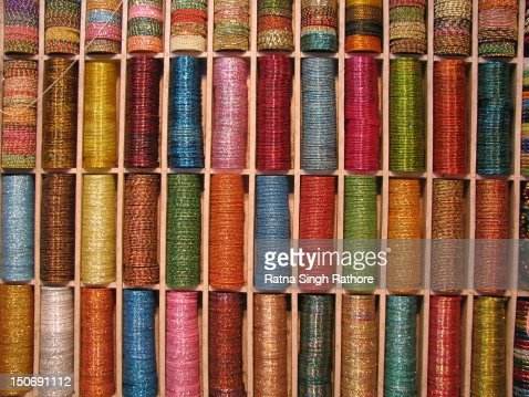 Colourful Bangles : Stock Photo