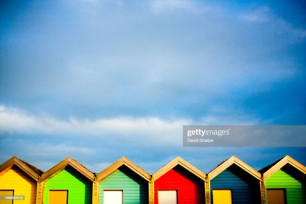 Colourful Beach Huts