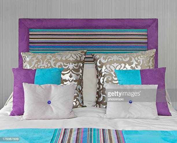 colourful bed setting