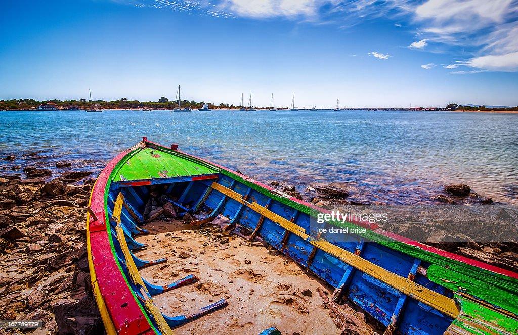 A Colourful Boat at Tavira, Algarve, Portugal