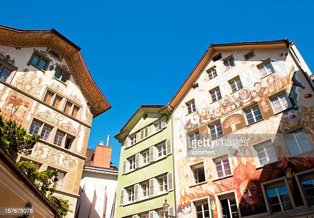 Colourful buildings in Lucerne