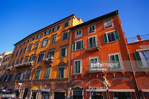 Colourful Buildings in Pisa, Tuscany, Italy