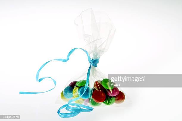 Colourful candies in a packet