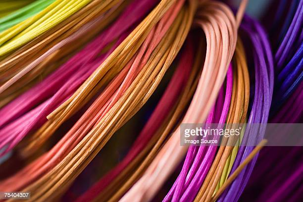 Colourful cane for basketry