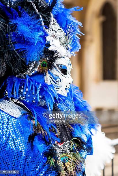 Bunte Frau Maske Karneval in Venedig, Italien