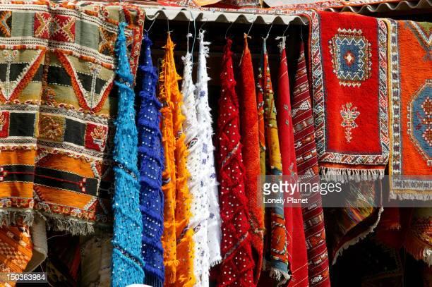Colourful carpet souqs.