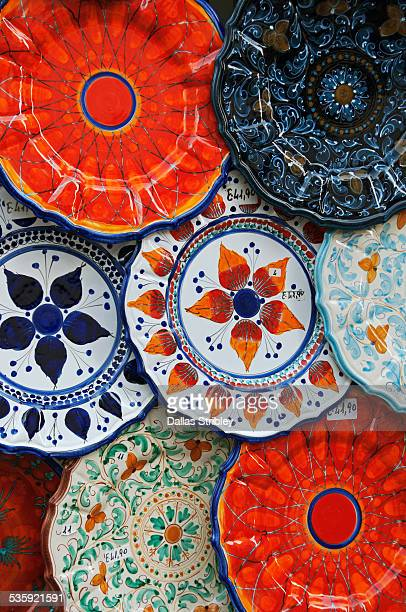 Colourful ceramics typical of the Aeolian Islands