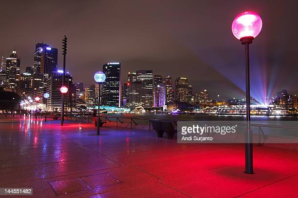 Colourful cityscape of sydney