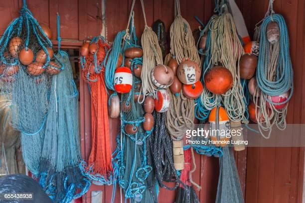 Colourful fishing gear