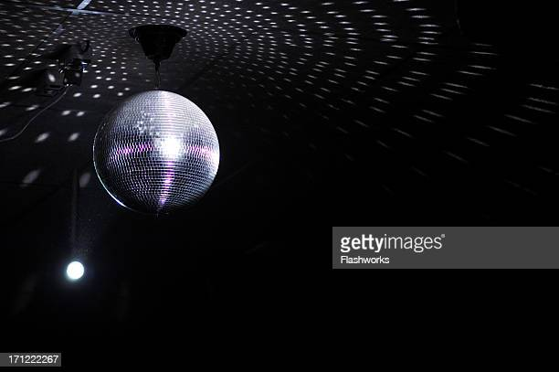 Colourful glitter mirrorball in disco new 3