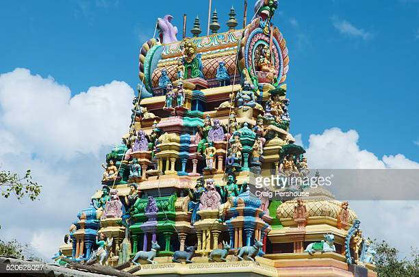 Colourful gopuram of Muniyabarar Kovil