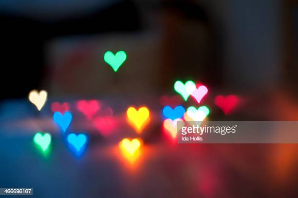 Colourful Heart Shaped Lights