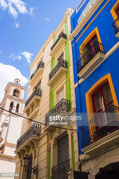 Colourful houses, Alicante, Costa Blanca, Spain