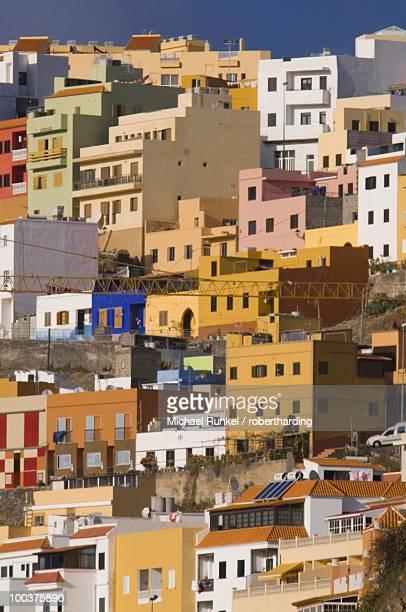 Colourful houses in San Sebastian de la Gomera, La Gomera, Canary Islands, Spain, Europe