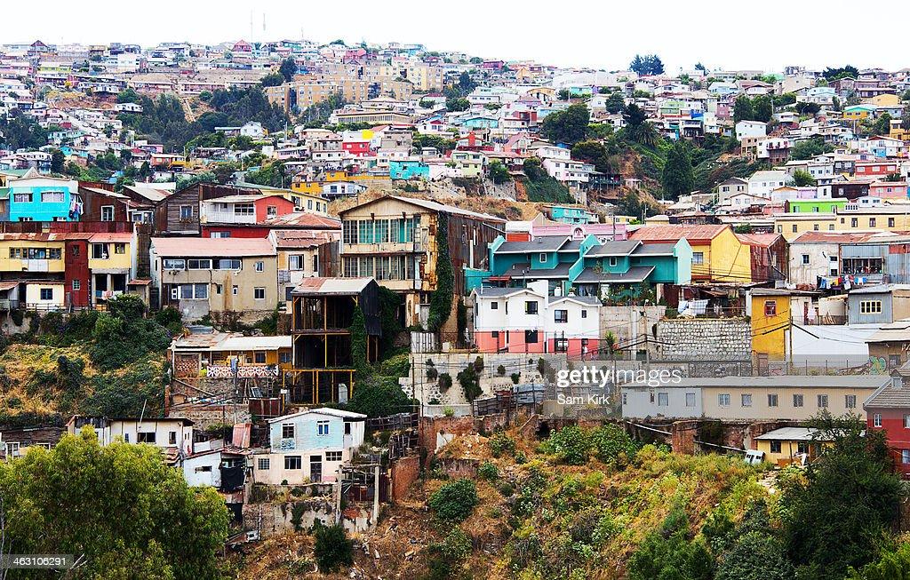 Colourful Houses in Valparaiso : Stock Photo