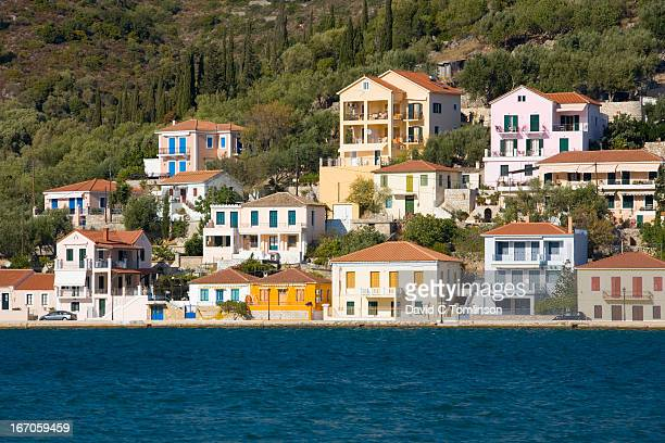 Colourful houses, Vathy, Ithaca, Greece