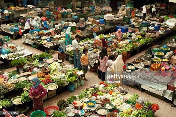 Colourful Indoor Market In Kota Baharu, Malaysia