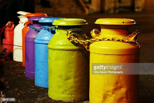 Colourful jugs